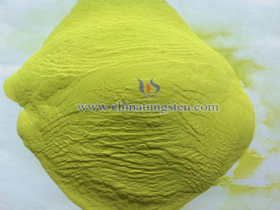 yellow tungsten oxide photo